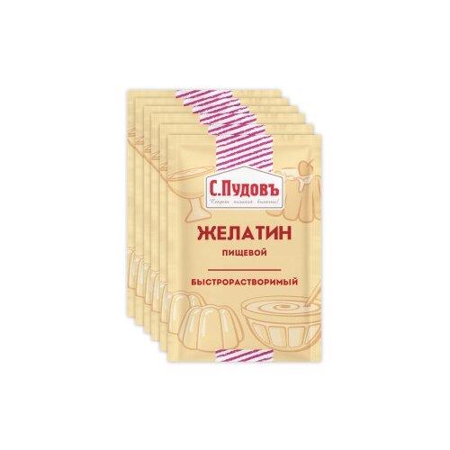 С.Пудовъ Желатин пищевой быстрорастворимый (6 шт. по 10 г)