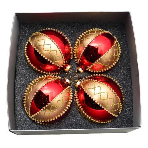 Набор шаров KARLSBACH 06864, красный/золотистый