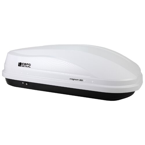 Багажный бокс на крышу Евродеталь Магнум 350 (350 л) белый карбон