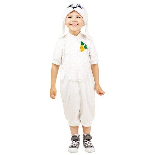 Купить Костюм пуговка Зайчик (903 к-17), белый, размер 104, Карнавальные костюмы