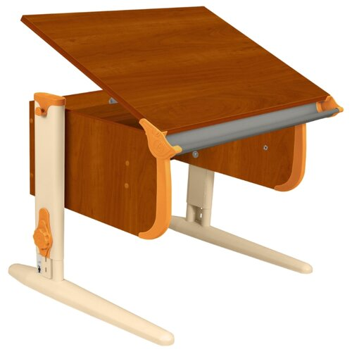 Купить Стол ДЭМИ СУТ-24 75x55 см яблоня/оранжевый/бежевый, Парты и столы