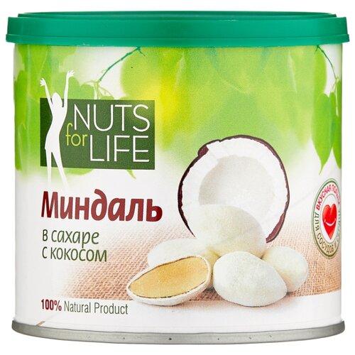 Миндаль в сахаре с кокосом Nuts for Life, 115 г nuts for life арахис в сахарной глазури с соком натуральной клюквы 115 г