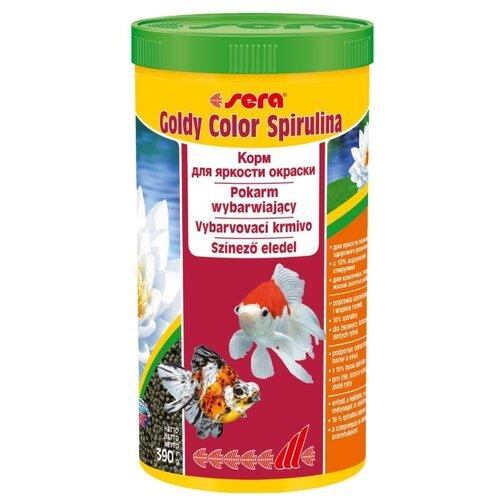 Сухой корм для рыб Sera Goldy Color Spirulina в гранулах 1000 мл 390 г