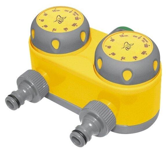 Таймер для полива на 2 линии, механический PALISAD LUXE