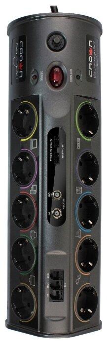 Сетевой фильтр CROWN MICRO CMPS-10, 10 розеток, 1.8 м, с/з 3680 Вт — цены на Яндекс.Маркете
