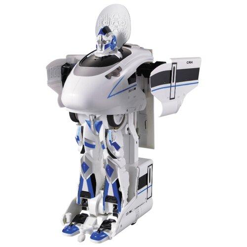 Купить Робот-трансформер Jia Qi Troopers Velocity Локомотив белый/синий, Роботы и трансформеры