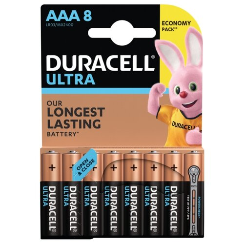 Фото - Батарейка Duracell Ultra Power AAA/LR03 8 шт блистер батарейка duracell ultra power aaa lr03 12 шт блистер