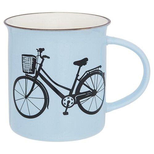 Elan gallery Кружка Велосипед 320 мл голубой набор кружек 2 предмета 320 мл 12х8 5х10 5 см elan gallery арабески бело бирюзовые