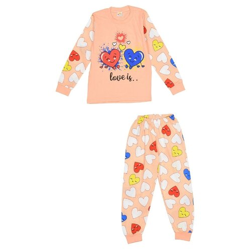 Пижама MisterBanana размер 122-128, персиковый