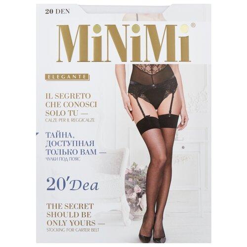 цена Чулки MiNiMi Dea 20 den, размер 2-S/M, bianco (белый) онлайн в 2017 году
