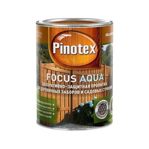 Биоцидная пропитка Pinotex Focus Aqua красное дерево 0.75 л пропитка pinotex ультра 9л07 красное дерево