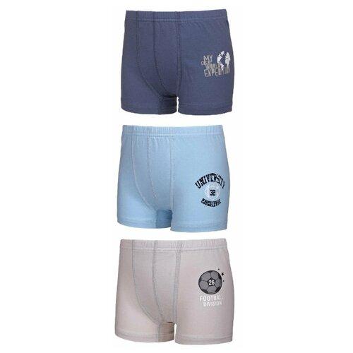 Купить Трусы BAYKAR 3 шт., размер 158/164, голубой/синий/бежевый, Белье и пляжная мода