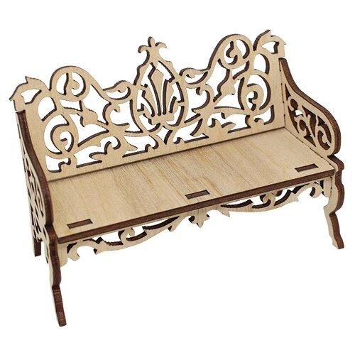 Купить Astra & Craft Деревянная заготовка для декорирования Диванчик резной L-661 бежевый, Декоративные элементы и материалы