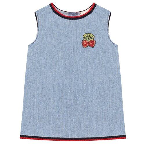 Платье GUCCI размер 86-92, голубой