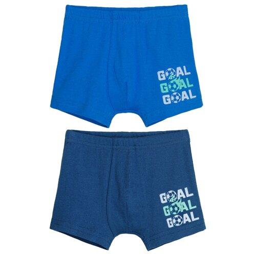 Трусы Let's Go 2 шт., размер 110-116, синий/темно-синий брюки boozya размер 110 116 темно синий