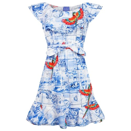 Платье Stella Jean размер 152, синий/красный платье oodji ultra цвет красный белый 14001071 13 46148 4512s размер xs 42 170