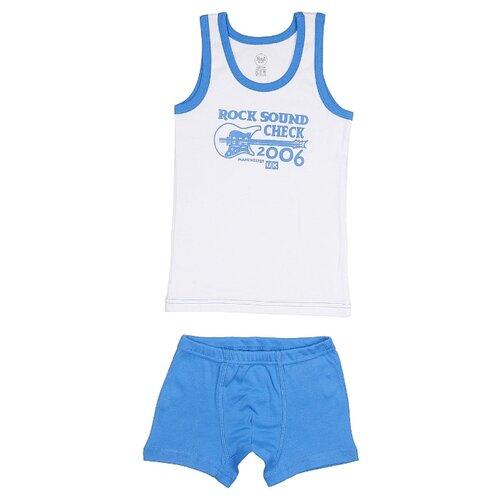 Купить Комплект нижнего белья RuZ Kids размер 140-146, белый/синий, Белье и пляжная мода