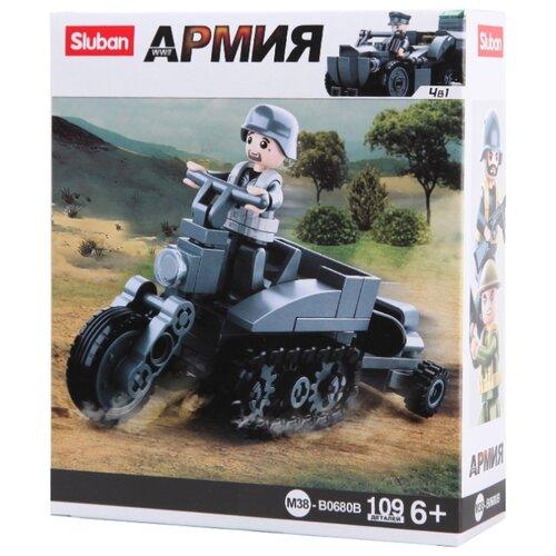 Купить Конструктор SLUBAN WW2 M38-B0680B Гусеничный мотоцикл, Конструкторы