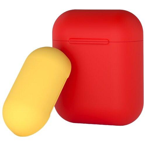 Чехол Deppa для AirPods двухцветный red/yellow