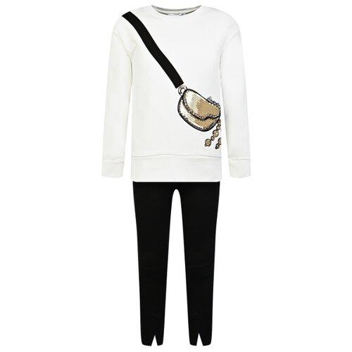Купить Комплект одежды Simonetta размер 128, кремовый/черный, Комплекты и форма