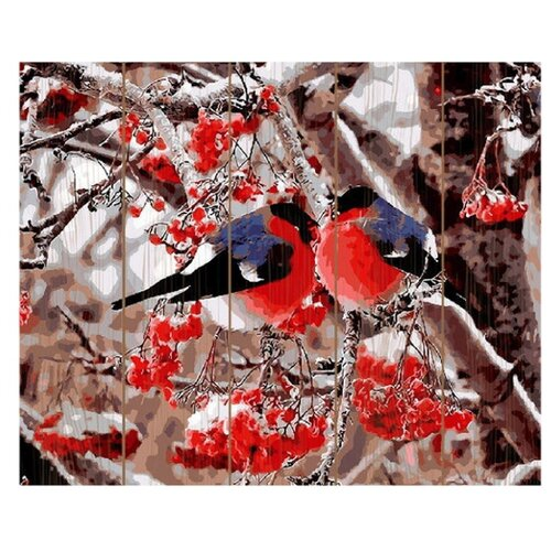Купить Molly Картина по номерам Снегири 40х50 см (GXT8859), Картины по номерам и контурам