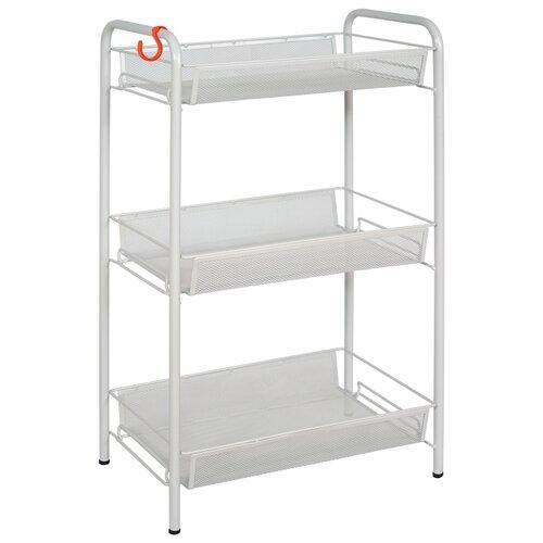 Этажерка ЗМИ Ладья 2, материал: пластик, ШxГxВ: 44х25х70 см, серый этажерка rosenberg 108 30 30 см