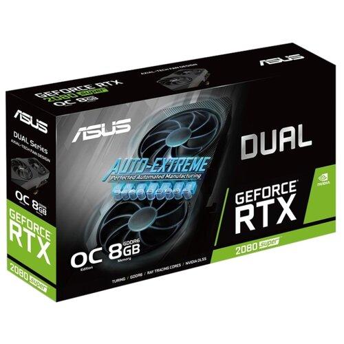 Видеокарта ASUS DUAL GeForce RTX 2080 SUPER 1830MHz PCI-E 3.0 8192MB 15500MHz 256 bit 3xDisplayPort HDMI HDCP EVO OC V2 Retail видеокарта asus nvidia geforce rtx 2080 super turbo evo pci e 8192mb gddr6 256 bit retail turbo rtx2080s 8g evo