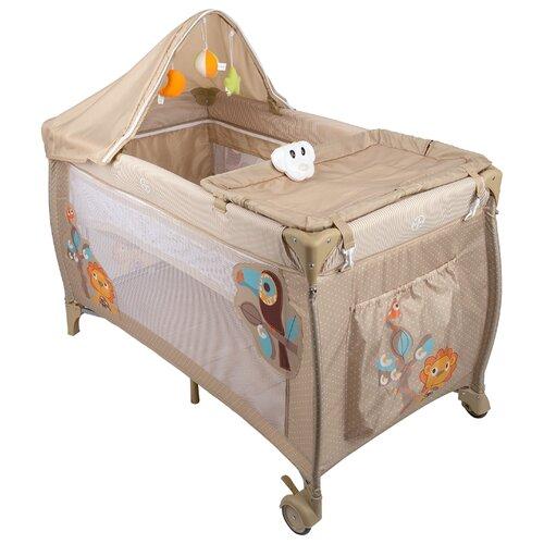 Манеж-кровать Capella S10 бежевый манеж кровать baby care ob 888 серый бежевый