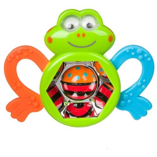 Купить Прорезыватель-погремушка BONDIBON Baby You Лягушка ВВ3923 зеленый/оранжевый/голубой, Погремушки и прорезыватели