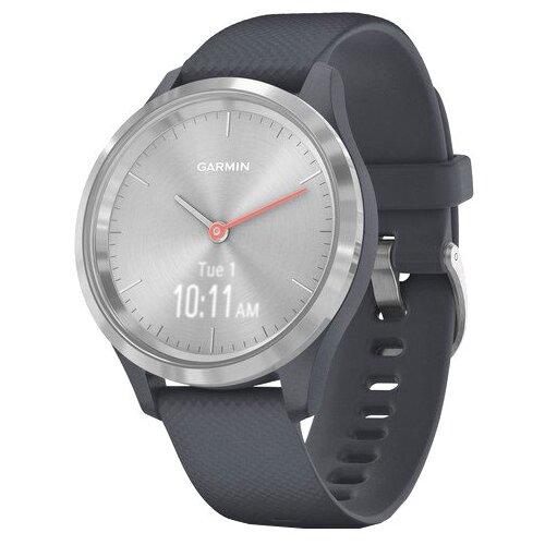Часы Garmin Vivomove 3S гранитно-синий/серебристый умные часы garmin vivomove 3 черные с черным силиконовым ремешком