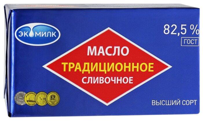 Экомилк Масло сливочное для выпечки традиционное 82.5% 82.5%, 180 г