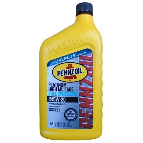 Фото - Моторное масло Pennzoil Platinum High Mileage Full Synthetic Motor Oil 5W-20 0.946 л high quality upgrade motor pinion gear