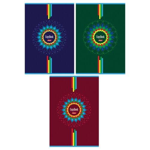 Купить Hatber Упаковка тетрадей Four Block 80Т4вмВ3, 3 шт., клетка, 80 л. синий/зеленый/бордовый, Тетради