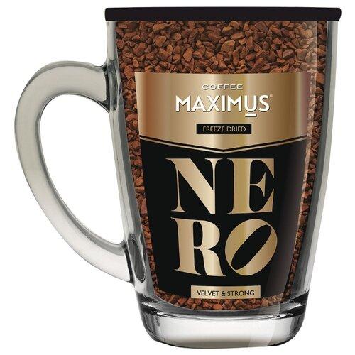 maximus nero кофе растворимый в стеклянной кружке 70 г Кофе растворимый Maximus Nero, стеклянная кружка, 70 г