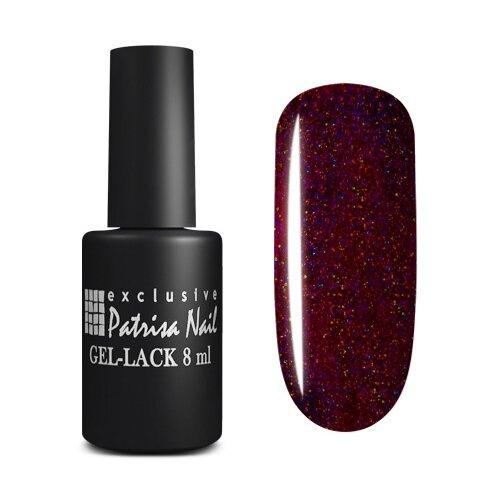 Купить Гель-лак для ногтей Patrisa Nail Stellar, 8 мл, S15 Насыщенный сливовый с голографическим шиммером