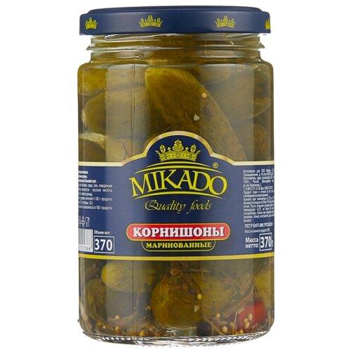 Корнишоны маринованные 3-6 см MIKADO стеклянная банка 370 г mikado sms 011 1 0 г