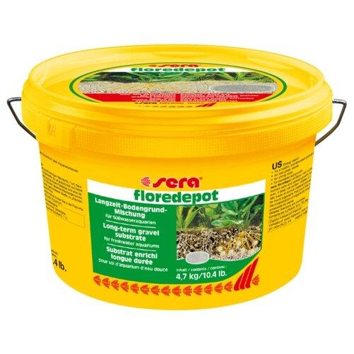 Грунт Sera Floredepot, 4.7 кг коричневый