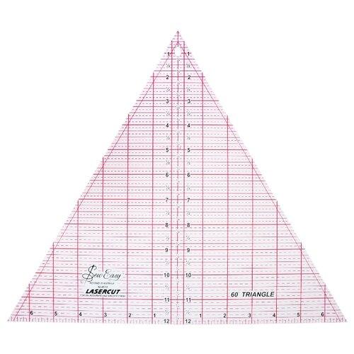 Купить Hemline Линейка для пэчворка Sew Easy NL4173 треугольник 60°, 12 x 13 7/8 дюймов прозрачный, Инструменты и аксессуары