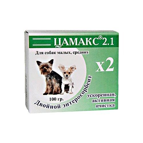 Добавка в корм Цамакс Двойной энтеросорбент для собак и щенков малых, средних пород (ускоренная, активная очистка) 100 г