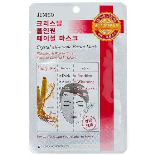 MIJIN Cosmetics тканевая маска Junico Crystal All-in-one с красным женьшенем, 25 г in cosmetics интернет магазин