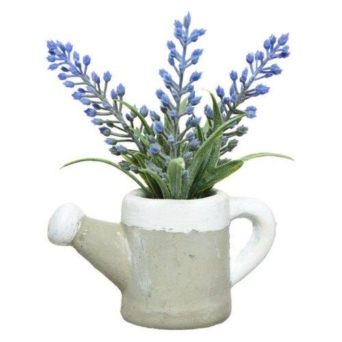 Элитные искусственные цветы ЛАВАНДА в леечке, пластик, 6.5x13 см, Kaemingk 801145