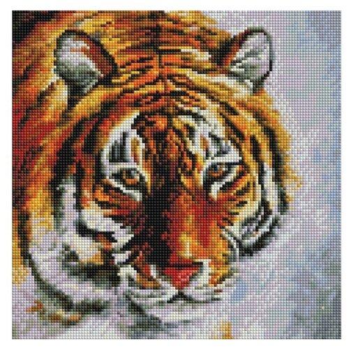 Белоснежка Набор алмазной вышивки Тигр на снегу (122-ST-S) 30х30см