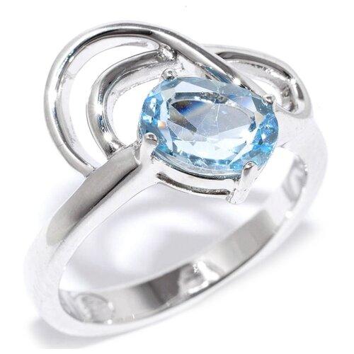 Silver WINGS Кольцо с топазами из серебра 21gre1863-69-73, размер 17