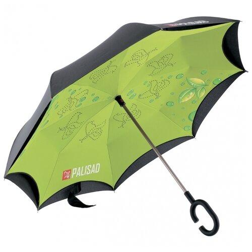 Зонт-трость механика PALISAD 69700 зеленый/черный зонт трость для коляски magic rain механика цвет розовый металлик 11919 1