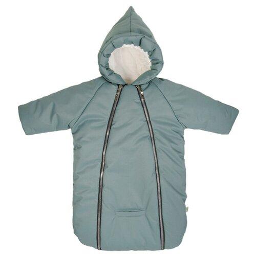 Купить Зимний конверт-комбинезон для новорожденного Галактика (зеленый), Сонный Гномик, Конверты и спальные мешки