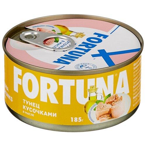 кий fortuna кий fortuna 09466 10 запилов 1рс рп Fortuna Тунец кусочками в масле, 185 г