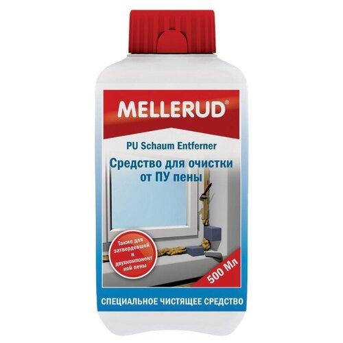 Очиститель Mellerud Средство для очистки от ПУ пены пластиковая бутылка 0.5 лСтроительные очистители<br>
