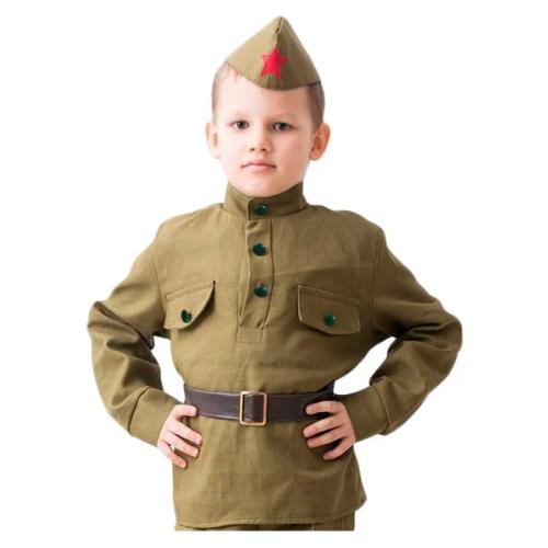 Купить Костюм Бока Военная форма Солдат, хаки, размер 140-152, Карнавальные костюмы