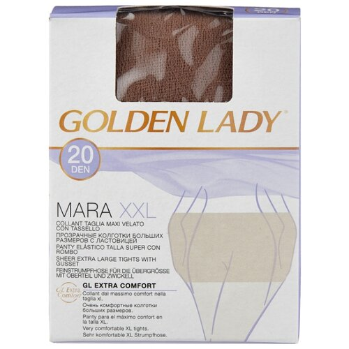 Колготки Golden Lady Mara 20 den, размер 6-XXL, daino (бежевый) колготки golden lady mara 20 den размер 6 xxl melon бежевый