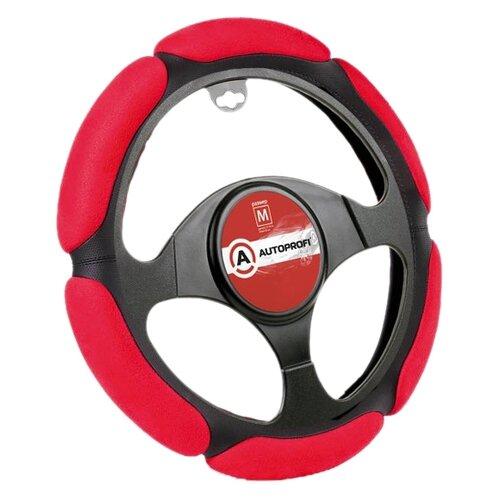 Оплетка/чехол AUTOPROFI SP-5026 BK/RD (M) черный/красный